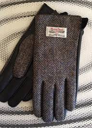 Ladies Tweed Herring Bone Gloves