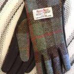 Ladies Tweed Tartan Gloves